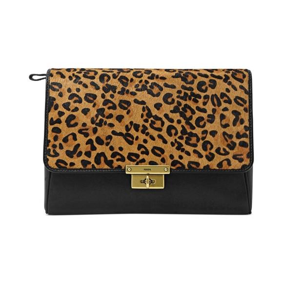24d5443e1195 Fossil Handbags - Fossil leopard clutch bag